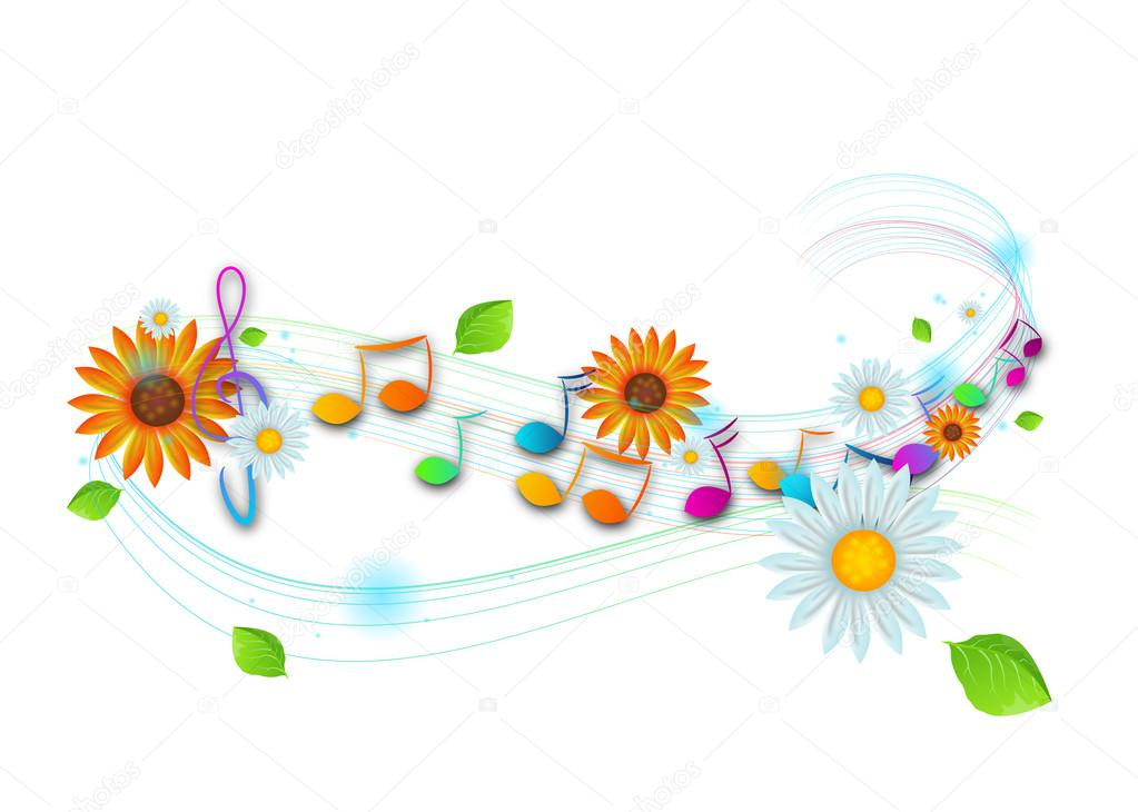 Notas Musicais Coloridas Stock Photo Sidliks 113990524