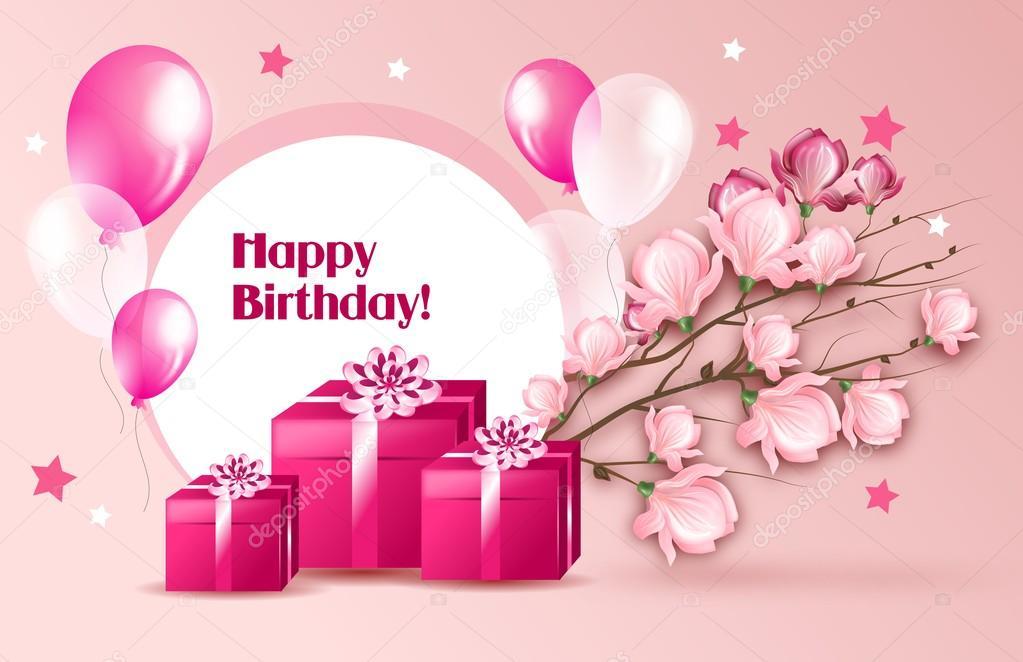 Woman Greeting Card For Birthday Stock Photo Sidliks 84864254