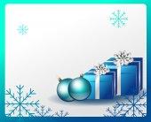 kék karácsonyi kártya