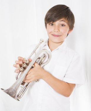 boy with trumpet
