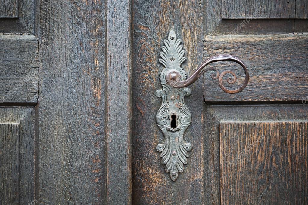 Decorative antique door handle — Stock Photo - Decorative Antique Door Handle — Stock Photo © Wernerimages #74743069
