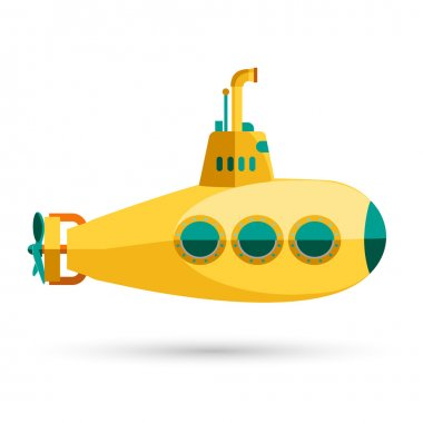 Yellow Submarine with periscope