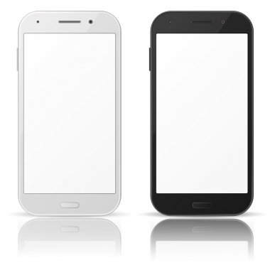 Black and white mobile phones