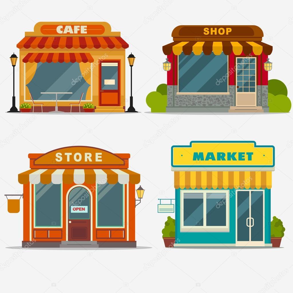 stor och liten butik