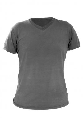 male shirt template, gray, front design