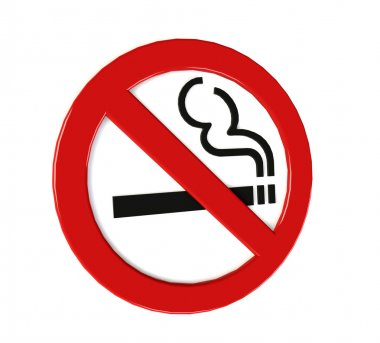 no smoking sign. 3D
