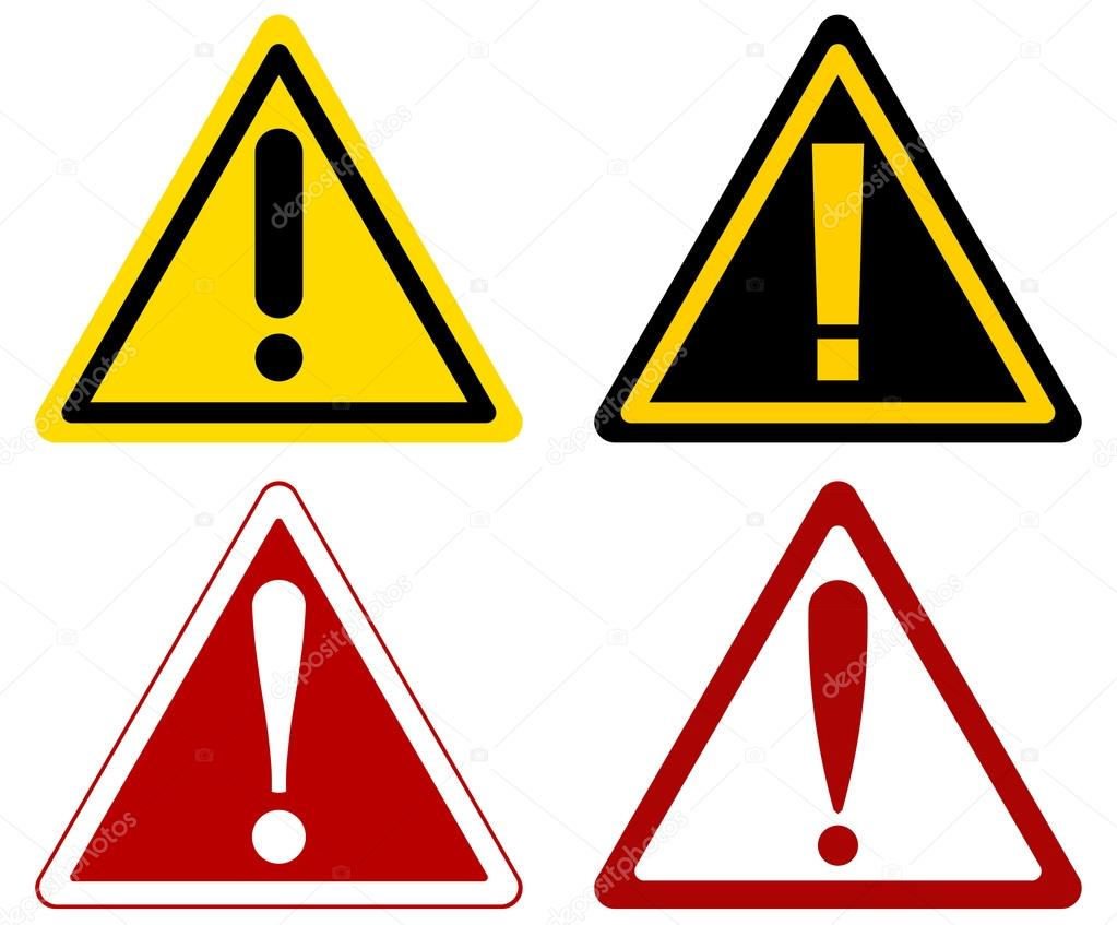 warning attention signs