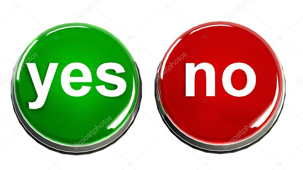 Yes No Buttons