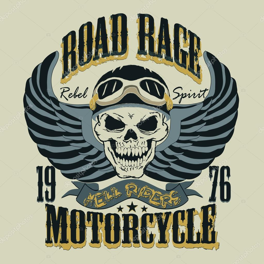 Motorcycle T-shirt Design vector illustration