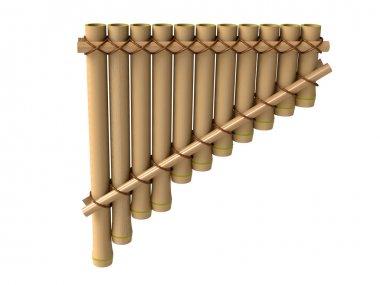 Pan flute, bamboo musical instrument