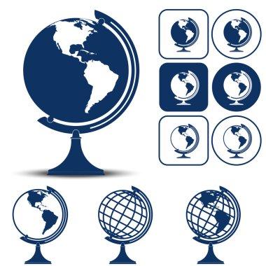 Earth Planet Globe Vector illustration