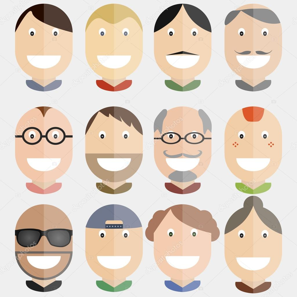 Happy faces vector illustration