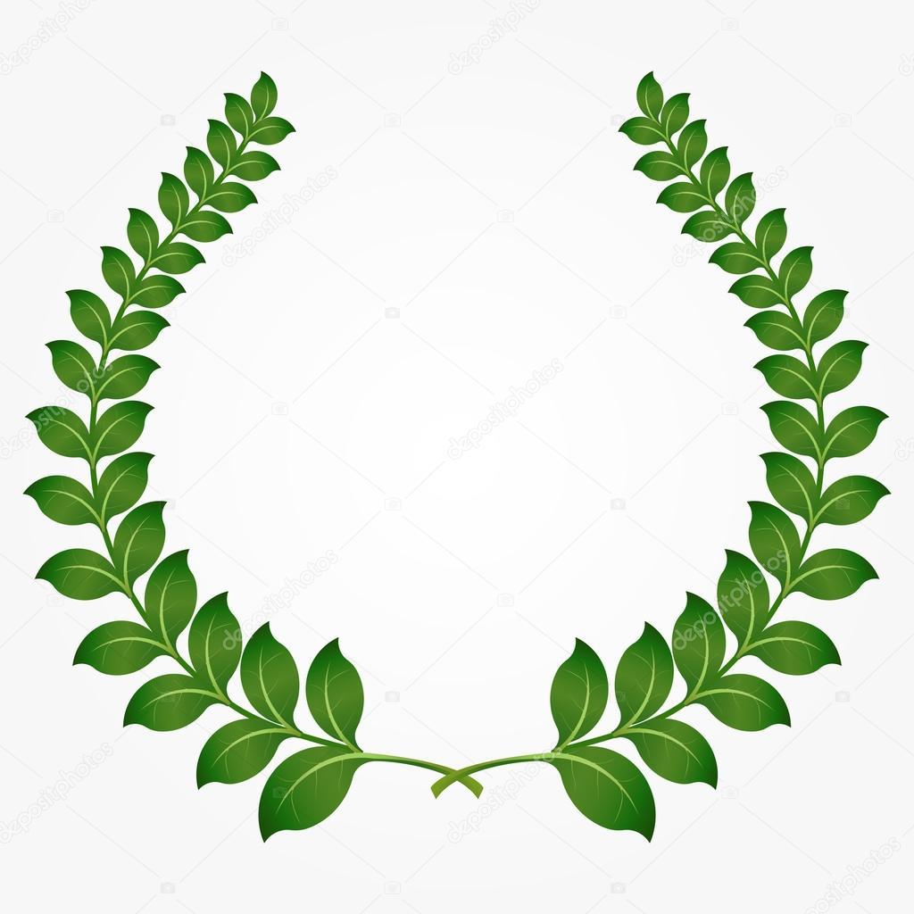 green laurel wreaths
