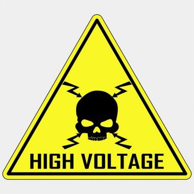 Danger High Voltage Sign, vector