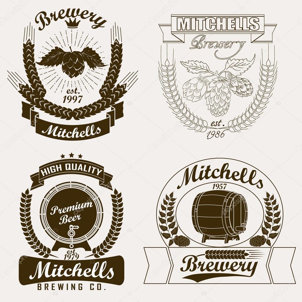 Beer logo, Brewery craft  label