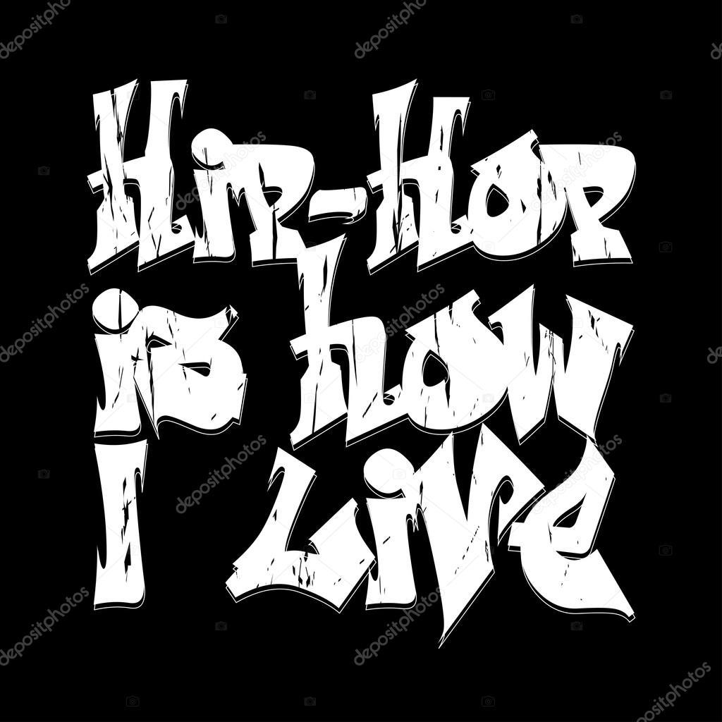 T shirt design hip hop - Hip Hop Style Emblem T Shirt Design Typography Fashion Design Graphic Print Label Vector Illustration Vector By Ambassador80