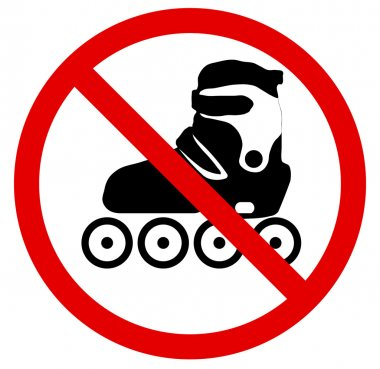 No roller skate. Vector illustration