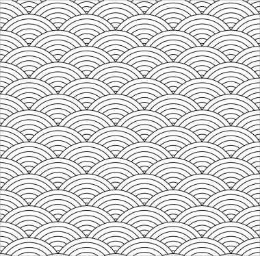 Seamless fish scale texture - vector background, fully editable, you can change form and color clip art vector