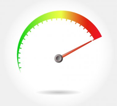 speedometer - vector illustration