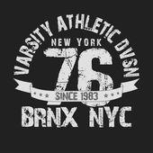 New York City typografie grafické T-shirt