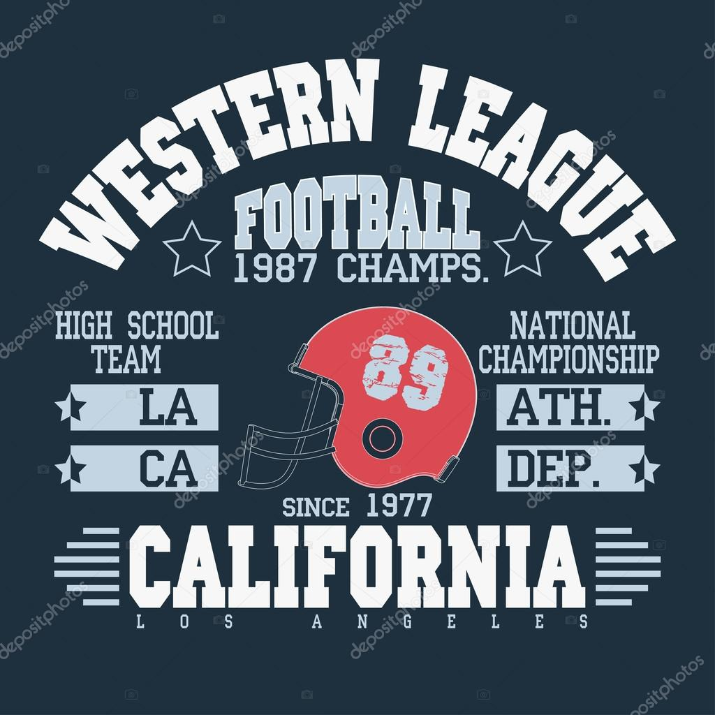 Football Athletic T-shirt  design