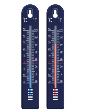 vector thermometer, cold and hot