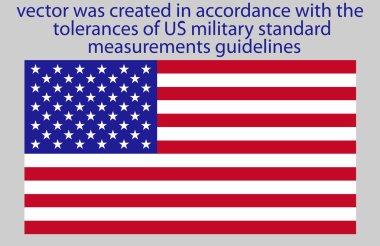 Flag of USA standard