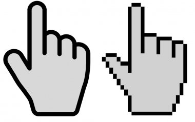 hand cursor vector illustration