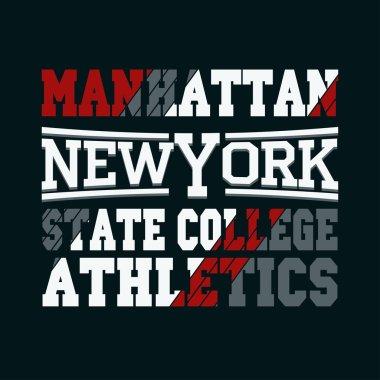 New York fashion - vector t-shirt design