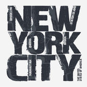 New york city typografie designu