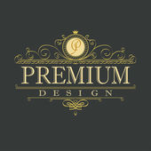 Photo luxury ornament floral design logo