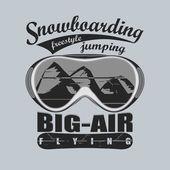 Snowboard, téli sport embléma