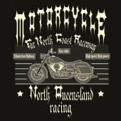 Motorkerékpár Racing tipográfia póló