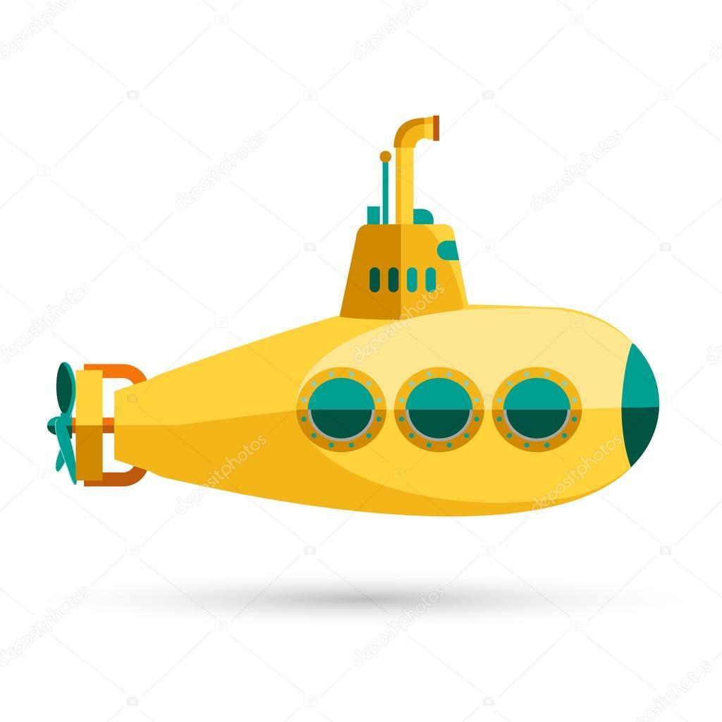 Yellow submarine vector