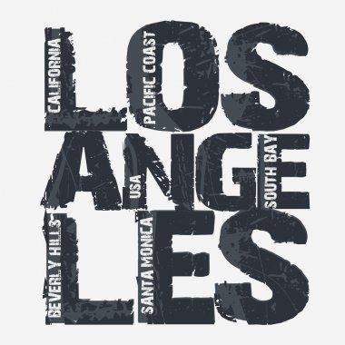 Los Angeles City Typography design