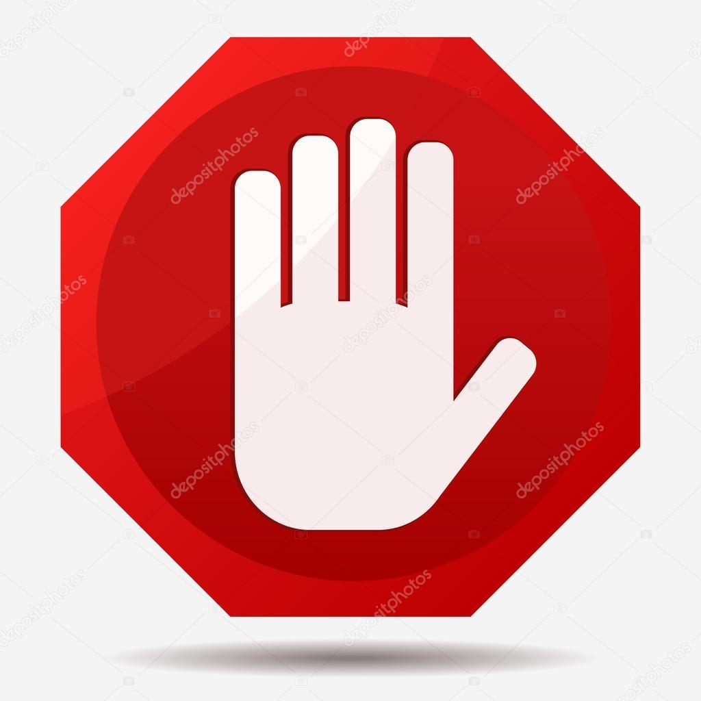 Hand Stoppschild — Stockvektor © ambassador80 #95299144