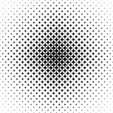 Seamless black and white vector star pattern