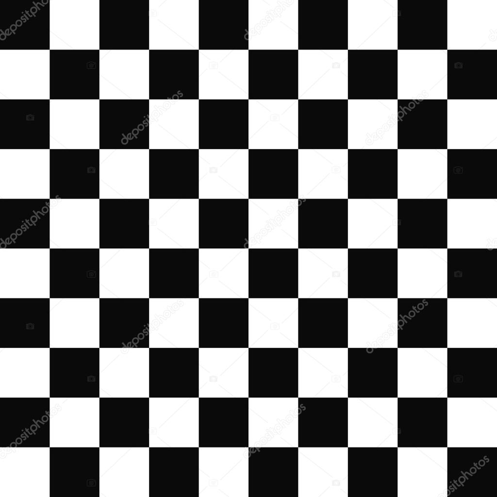Seamless Black And White Checkered Pattern Stock Vector