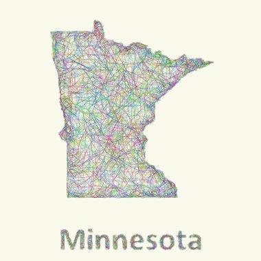 Minnesota line art map