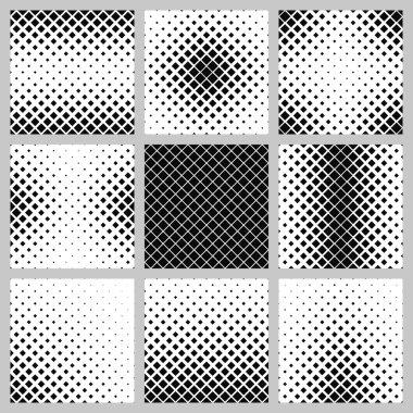 Set monochrome square pattern designs
