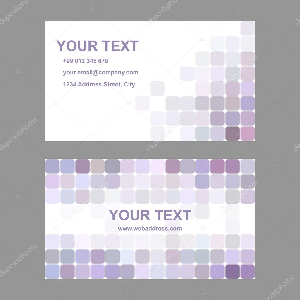 Light purple business card template design — Stock Vector ...
