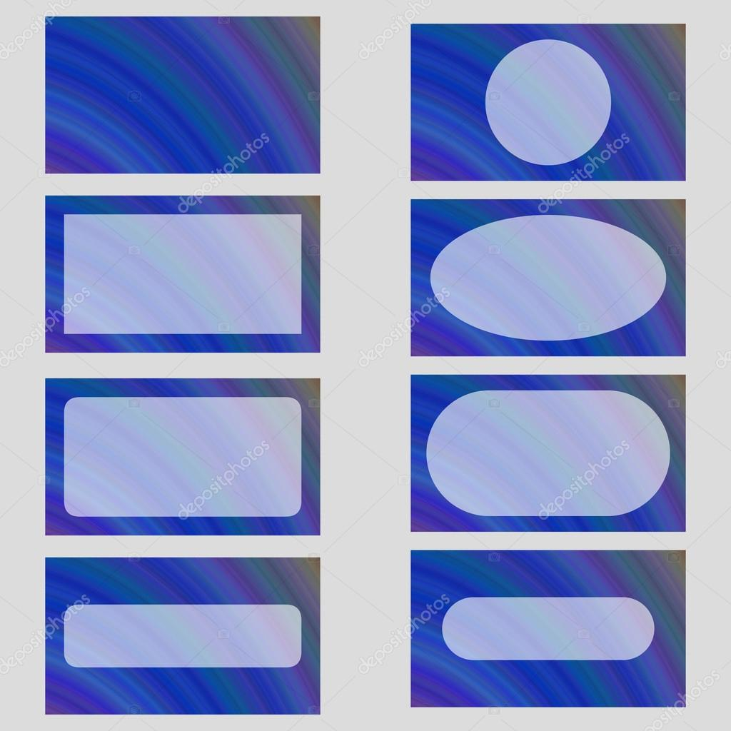 Blue abstract business card frame template set — Stock Vector ...