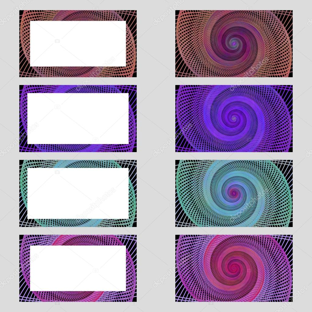 Spiral design business card frame set — Stock Vector © davidzydd ...