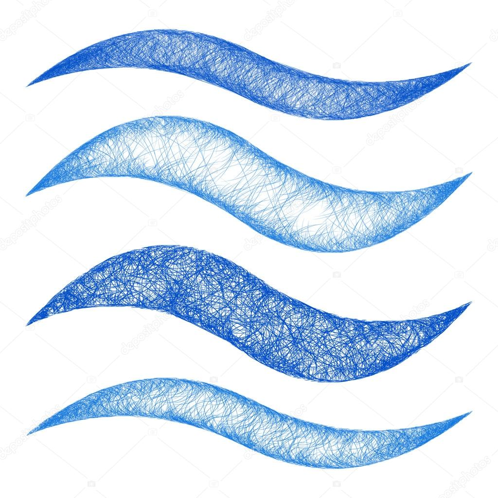 conjunto de elemento do desenho azul onda linha design vetores de stock davidzydd 123372184. Black Bedroom Furniture Sets. Home Design Ideas