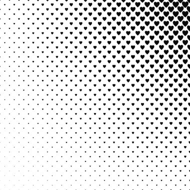 Abstract monochrome heart pattern background design vector stock vector