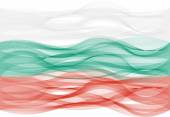 Wave line flag of Bulgaria