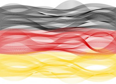 Wave line flag of Germany
