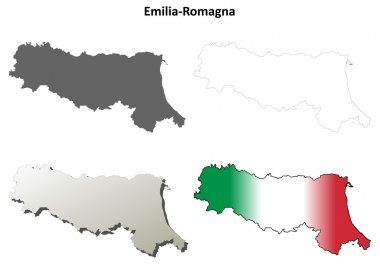 Emilia-Romagna outline map set