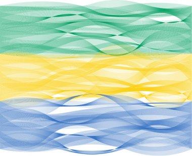 Wave line flag of Gabon