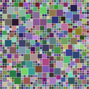 Multicolor square pixel mosaic background